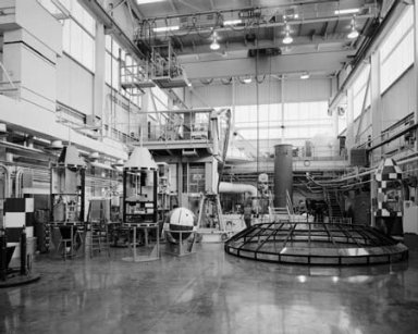 SHOP AND ELECTRONIC WORK AREAS SHOWING CROWDED CONDITIONS AT THE ZERO GRAVITY BUILDING