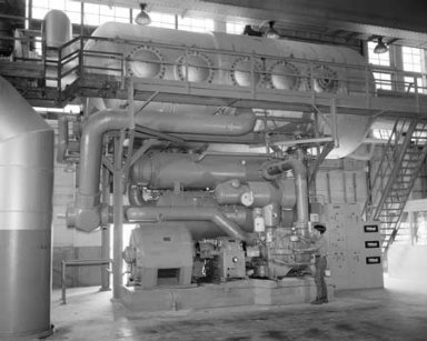 PROPULSION SYSTEMS LABORATORY PSL EQUIPMENT CHILLER AND NEW COOLER AND TEST CHAMBER FOR TF-30 CORE ENGINE