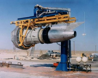 GENERAL ELECTRIC GE TF-34 JET ENGINE ON STAND