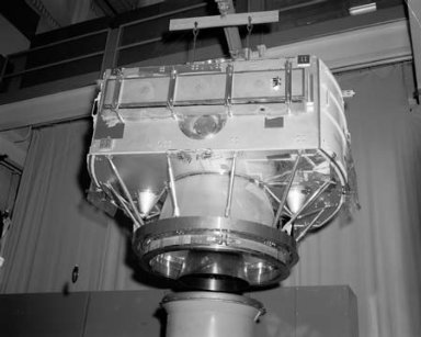 COMMUNICATION TECHNOLOGY SATELLITE CTS SPACECRAFT COVERAGE AND APOGEE MOTOR INSTALLATION