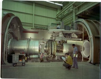 QUIET ENGINE IN THE PROPULSION SYSTEMS LABORATORY PSL TANK NO. 3