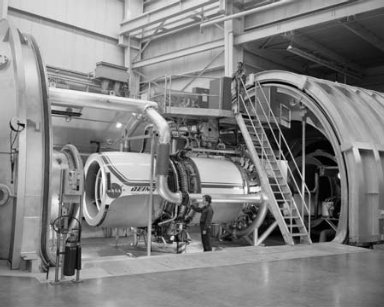 ENGINE TEST RINGS IN THE PROPULSION SYSTEMS LABORATORY PSL TANKS 1 - 2 - 3