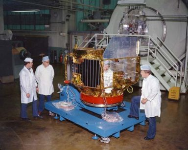 COMMUNICATION TECHNOLOGY SATELLITE CTS SPACECRAFT AT THE ELECTRIC PROPULSION LABORATORY EPL
