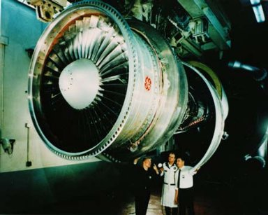 CF-6 ENGINE IN GENERAL ELECTRIC GE TEST CELL