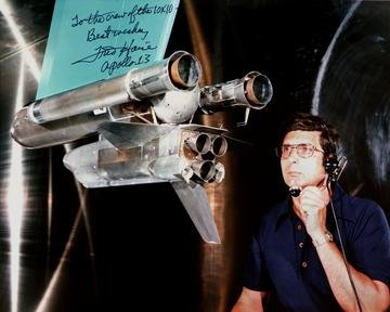 C-75-3012 - SHUTTLE IN 10X10 FOOT SUPERSONIC WIND TUNNEL SWT PHOTO WITH FRED HAISE AUTOGRAPH