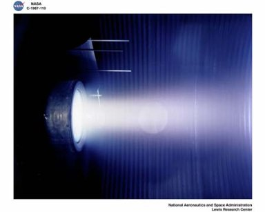 HUGHES RESEARCH CENTER ION THRUSTER OPERATION