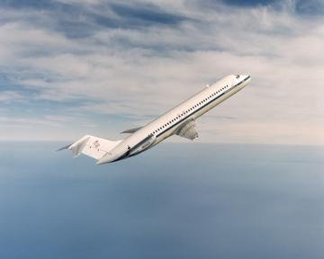 DC-9 AIRPLANE IN FLIGHT- SEE ALSO C-96-463, C-96-1436 AND C-96-1437