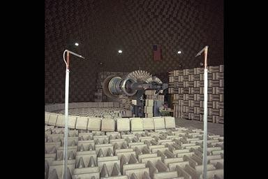 GENERAL ELECTRIC GE / NASA LEWIS RESEARCH CENTER ACTIVE NOISE CONTROL FAN ANCF ON THE RIG