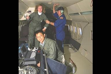 SPACE ACCELERATION MEASUREMENT SYSTEM SAMS IN-FLIGHT DC-9 AIRPLANE