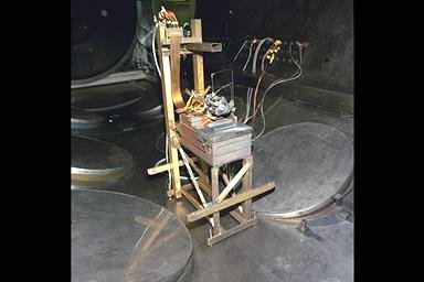 POST TEST ION THRUSTER IN TANK