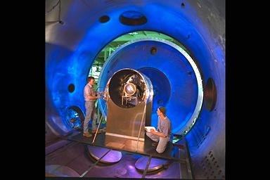 ION THRUSTER IN COLD WALL FACILITY