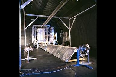 PHOTOVOLTAIC RADIATOR IN THE SPACE POWER FACILITY SPF CHAMBER AT NASA PLUM BROOK STATION