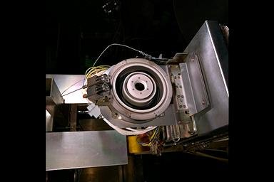 RUSSIAN HALL EFFECT THRUSTER MOUNTED ON THRUST STAND