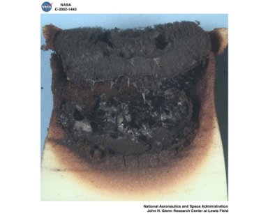 MICROGRAVITY SMOLDERING COMBUSTION POST FLIGHT SAMPLES - STS 105 AND STS 108