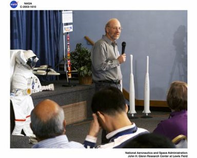 Visit to NASA Glenn Research Center by Astronaut Daniel T. Barry
