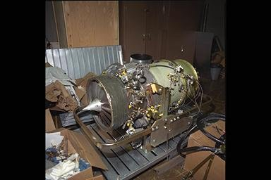 WILLIAMS FJ-44 ENGINE TEST AT PROPULSION SYSTEMS LABORATORY PSL FOR GAS EMISSIONS SYSTEMS INSTALLATION