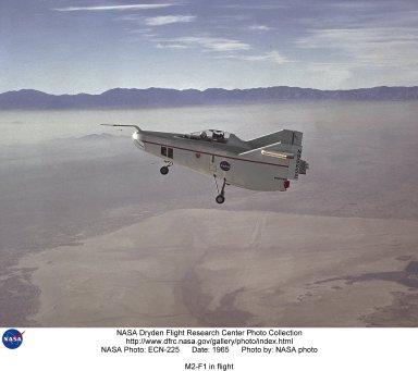 M2-F1 in flight