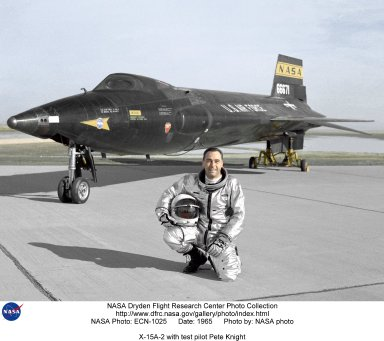 X-15A-2 with test pilot Pete Knight