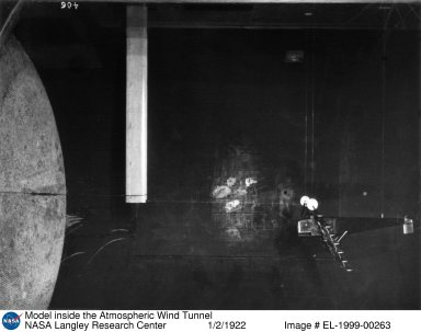 Model inside the Atmospheric Wind Tunnel