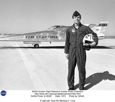 X-24B with Test Pilot Michael V. Love