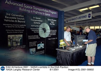 EAA AirVenture 2001 - NASA's exhibits in the EAA Pavilion