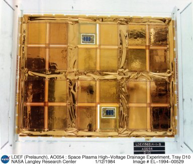 LDEF (Prelaunch), AO054 : Space Plasma High-Voltage Drainage Experiment, Tray D10
