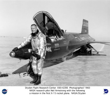 Pilot Neil Armstrong with X-15 #1