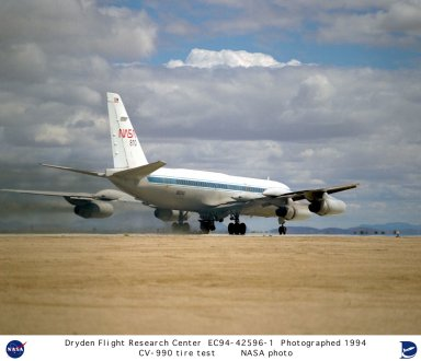 LSRA landing with tire test