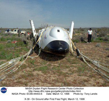 X-38 - On Ground after First Free Flight, March 12, 1998