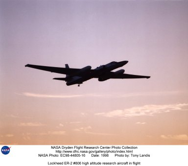 Lockheed ER-2 #806 high altitude research aircraft in flight