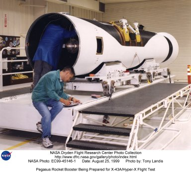Pegasus Rocket Booster Being Prepared for X-43A/Hyper-X Flight Test