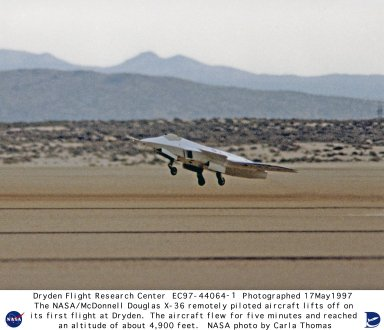 X-36 Taking off During First Flight