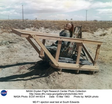 M2-F1 ejection seat test at South Edwards