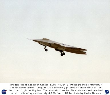 X-36 during First Flight