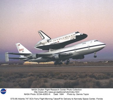STS-66 Atlantis 747 SCA Ferry Flight Morning Takeoff for Delivery to Kennedy Space Center, Florida