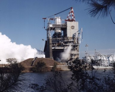 Space Shuttle Main Engine test on A-1