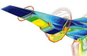 CFD Image of Hyper-X Vehicle