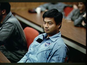 1990 astronaut candidate Leroy Chiao listens during classroom session at VAFB