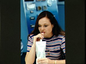STS-52 Mission Specialist (MS) Jernigan during food planning session at JSC