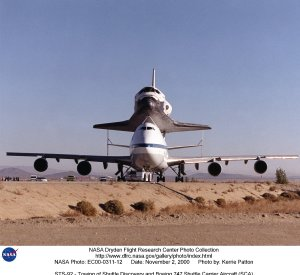 STS-92 - Towing of Shuttle Discovery and Boeing 747 Shuttle Carrier Aircraft (SCA)