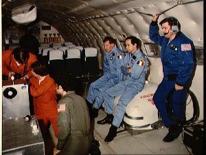 Crew training in weightless environment on the KC-135