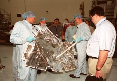 The STS-104 crew takes part in CEIT