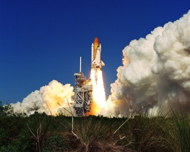 Space Shuttle Discovery lifts off successfully