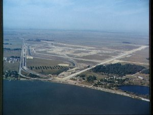 Aerial view of the future site of the Manned Spacecraft Center, Houston, Tx