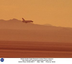 STS-29 Landing Approach at Edwards