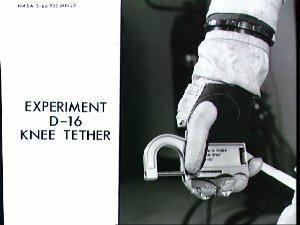 View of Gemini 11 experiment D-16 Knee Tether