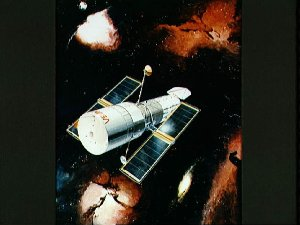 Artists concept of the space telescope