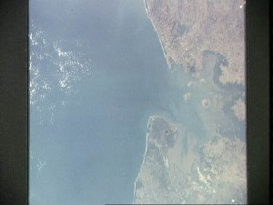 Gulf of Fonseca, Pacifica coast of Central America as seen from Apollo 9
