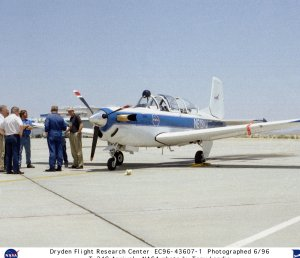 NASA T-34C arrival at Dryden