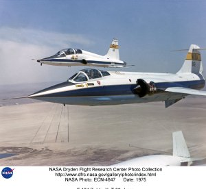 F-104 flight with T-38 chase